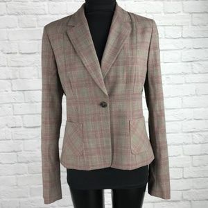 ELIE TAHARI Blazer Jacket Size 12 Virgin Wool